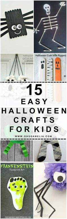 Looking for some easy and fun crafts to do this Halloween? Look no further! We've picked out 15 of our favourites just for you!