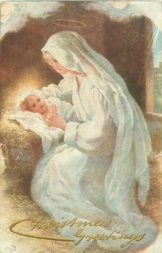 Madonna Mary and Baby Jesus via Dorian Furey Blessed Mother Mary, Blessed Virgin Mary, Catholic Art, Religious Art, Gif Noel, Queen Of Heaven, Mama Mary, Religious Pictures, Sainte Marie