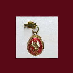 Faberge angel egg pendant with surprise. by VINTAGEJOOLSFORYOU