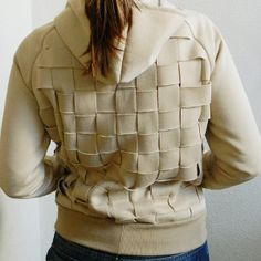 For fun sewing projects, please refer to this DIY Basketweave Hoodie Tutorial. Make the ordinary extraordinary by restyling a hoodie from behind. Learning how to refashion clothing has never been so innovative!