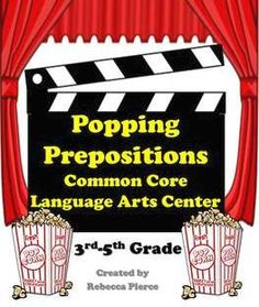This is a classroom tested popcorn and movie themed cooperative learning center game created for the 3rd- 5th grade classroom. It is designed to help students practice adding prepositional phrases to sentences. $