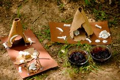 Hunters Home and Stone Age Food – Creating Learning Adventures Stone Age Houses, Bronze Age Tools, Bronze Age Collapse, Archaeology For Kids, Bronze Age Civilization, Stone Age Art, Art For Kids, Crafts For Kids, Hunter Gatherer