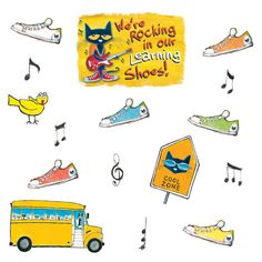 Pete the Cat® We're Rocking in Our Learning Shoes Bulletin Board (EP2383)