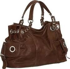 Genuine brown italian leather hobo purse bag handbag handmade ...