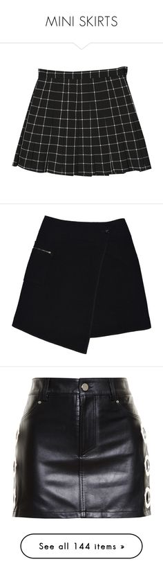 """MINI SKIRTS"" by jayda-xx ❤ liked on Polyvore featuring skirts, bottoms, stylenanda, saias, faldas, black, wool skirt, wraparound skirt, wrap skirt and wrap around skirt"