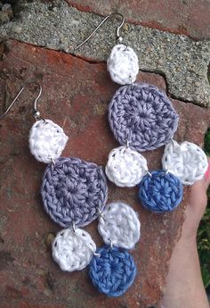 FREE shipping  white and blue crochet chandelier by royaboya, $14.00