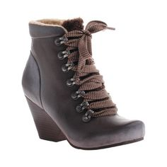 0c199ad7768f Women s OTBT Ritchie Lace up Bootie - Dark Brown Leather Boots