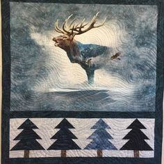 Panel Quilts, Quilt Blocks, Moose Quilt, Fox Quilt, Wildlife Quilts, Call Of The Wild, Quilt Border, Animal Quilts, Landscape Quilts