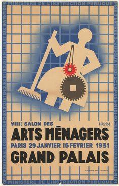 VIIIe Salon des Arts Ménagers (…) 1931 / Grand Palais - Affiches Marci Vintage poster by Bernard Francis