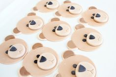 Fondant Teddy Bear Cupcake Toppers 24 by SugarAndStripesCo on Etsy,