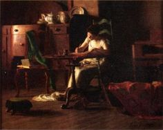 Woman Writing at a Table Thomas Pollock Anshutz (American, Oil on canvas. Although Anshutz experimented persistently with landscape painting, he was more well known for his. Marriage Advice, Love And Marriage, Almeida Junior, American Realism, American Artists, Woman Reading, Reading Art, Online Gratis, Solitude