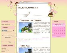 Cupcake Dulces Blogger Template | Free Blogger Templates