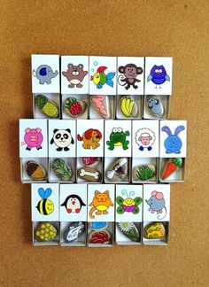 Feed the animals, Developing games, Hand painted rocks, Funny matchbox – Baby Development Diy And Crafts, Crafts For Kids, Paper Crafts, Summer Crafts, Games For Kids, Diy For Kids, Penguin Craft, Hand Painted Rocks, Graduation Gifts