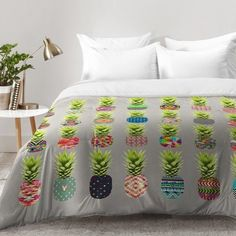 East Urban Home Pineapple Party Comforter Set Size Twin XL