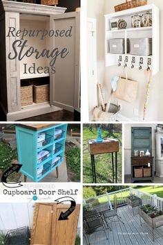 Repurposed Storage Ideas from Thrifted Furniture