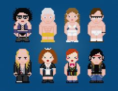 The Rocky Horror Picture Show -  Movie Characters - Digital PDF Cross Stitch Pattern