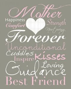 Mother's Day subway art printable