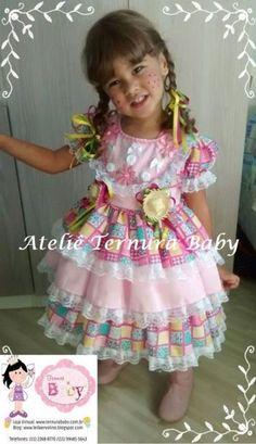 Vestido Caipira Luxo Camila