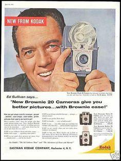 ED SULLIVAN and his 1959 Kodak Brownie 20 ad!