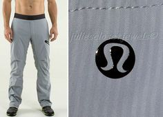 Lululemon Athletica Men's Seawall Track Pants Gray Black XL TRAVEL TRAIN *MINT*  #Lululemon #Pants