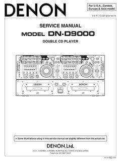 DENON DN-D9000 Service Manual – Spared Parts UK Manual, Digital, Textbook