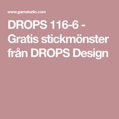 DROPS 116-6 - Gratis stickmönster från DROPS Design