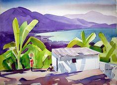 Eliot O'Hara ~ Jamaican Palms