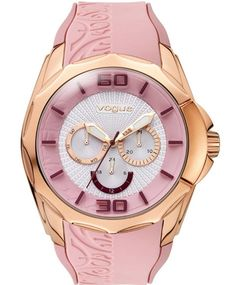 OROLOI.gr - VOGUE Ladies Candy Rose Gold Pink Silicone Strap