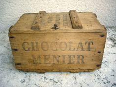 Vintage box/trunk of French Chocolates                                                                                                                                                                                 Plus