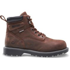 96a207b50a56a Wolverine Men's Floorhand 11M Dark Brown Full-Grain Leather Waterproof  Steel Toe 6 Boot,