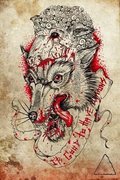 wolf in lamb traditional tattoos - Pesquisa Google