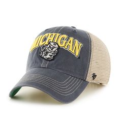 119f096ca9f4 Michigan Wolverines 47 Brand Tuscaloosa Vintage Clean Up Adjustable Hat