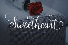 Sweetheart Script (40% Off) by Unicode on @creativemarket