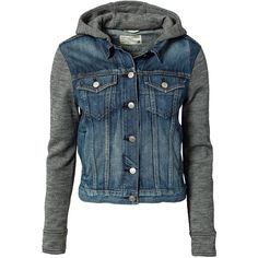 Rag & Bone Jean Jacket With Hood ($440) ❤ liked on Polyvore featuring outerwear, jackets, tops, coats, coats & jackets, bradford, womens-fashion, button jacket, rag bone jacket and flap jacket