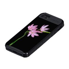 iPhone 5 Case - Pink flowers on black background