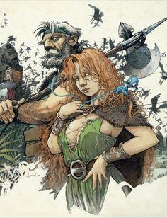 La Quête de l'oiseau du temps, saga imaginée par Serge Le Tendre et Régis Loisel. Ces quatre épisodes constituent aujourd'hui encore, pas loin de ce qui se fait de mieux en matière d'heroic fantasy en bande dessinée. Une série culte !
