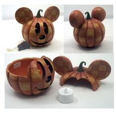 Jim Shore Disney Traditions Mickey Mouse Jack-o-Lantern