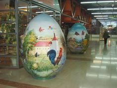 Giant Easter eggs are popular in Croatia, too.