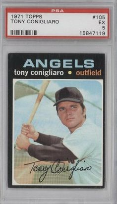 Tony Conigliaro PSA GRADED 5 Anthony Conigliaro, California Angels (Baseball Card) 1971 Topps #105 by Topps. $5.00. 1971 Topps #105 - Tony Conigliaro PSA GRADED 5