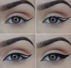How to Apply Eyeliner. Eyeliner can help make your eyes stand out or look bigger, and it can even change their shape. Even if you've never worn eyeliner before, all it takes is a little practice to take your makeup to the next level! Makeup 101, Makeup Goals, Skin Makeup, Makeup Inspo, Makeup Inspiration, Beauty Makeup, Makeup Ideas, Makeup Tutorials, Makeup Style