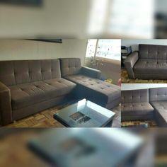 Sala en forma de L  #mueblesclasicosyauxiliares #mueblesdivinos