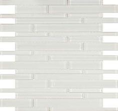 Glass Mosaic Tile Simplicity White Random