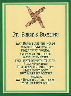Saint Brigid Cross Irish House Blessing Holy Post Card Set of 8 House Blessing, Irish Blessing, St Brigid Cross, Brigid's Cross, St Bridget, Celtic Goddess, Brighid Goddess, Irish Cottage, St Paddys Day