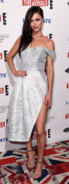 Alexandra Park nearly flashes her underwear at The Royals premiere #dailymail