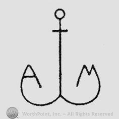 Anchor with Initials