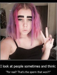 Makeup Masterpiece: How Not To Fix Up Your Eyebrows. Groucho Marx Fail - Best Funny Pictures Walmart Humor Jokes