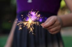 sparklers. my favorite statement of celebration! Great memories of spending the 4th with my amazing family.