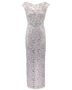 Haze Sequin Lace Gown with Mirrored Motif Image 0 Anthea Crawford