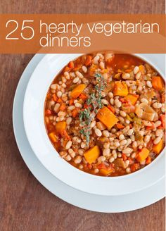 25 Hearty Vegetarian Recipes for Dinner