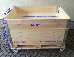 The dimensions of the bed - Pallet Furniture Diy Pallet Beds, Diy Pallet Furniture, Small Greenhouse, Wood Pallets, Pallet Wood, Pallet Projects, Toy Chest, Storage Chest, Home And Garden